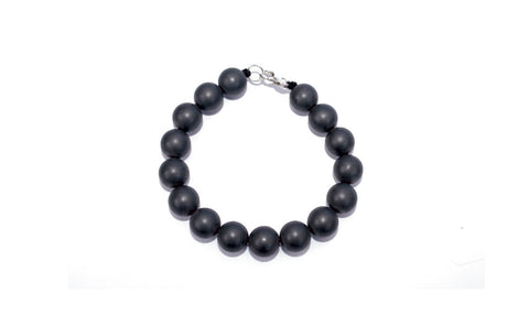 NEW! Men's Open Heart Warrior Hematite Grounding Mala Bracelet