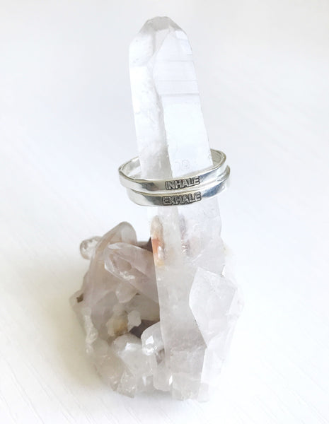 NEW! Sterling Silver Intention Double Stacking Ring Series