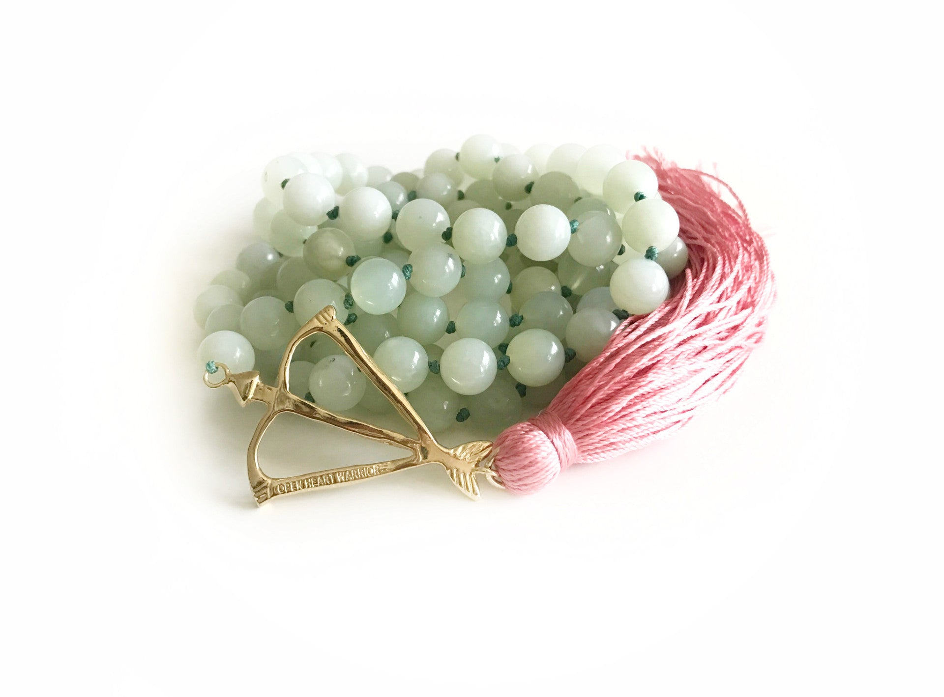 NEW! Open Heart Warrior New Jade Faceted Serpentine Healing & Awakening 108 Mala
