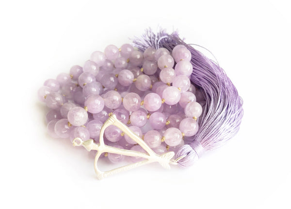 NEW! Open Heart Warrior Light Amethyst Transformation 108 Mala