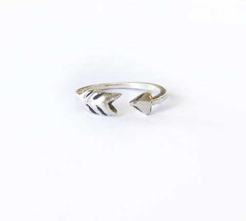 Take Aim Adjustable Arrow Ring Recycled Sterling Silver