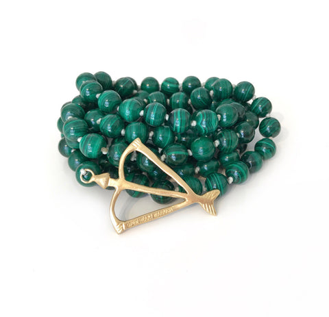 NEW Malachite Healed Open Heart 108 Mala