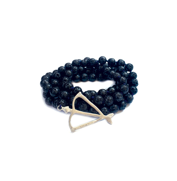 NEW! Men's Unisex Open Heart Warrior Rebirth Lava Rock 108 Mala