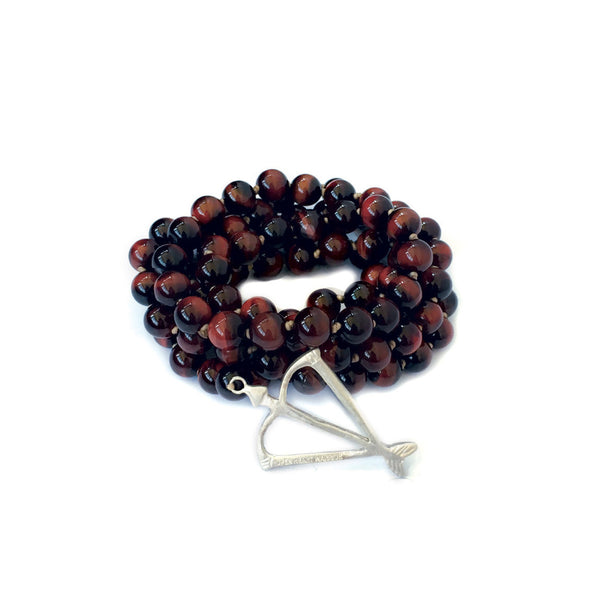 NEW! Men's Unisex Open Heart Warrior Vitality Red Tiger's Eye 108 Mala