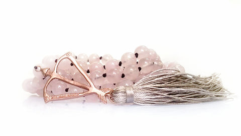 Open Heart Warrior Rose Quartz Love Goddess 108 Mala