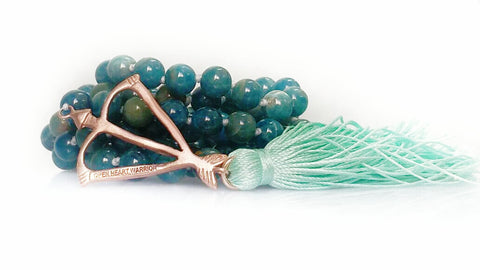 NEW! Open Heart Warrior Apatite Mystic 108 Mala