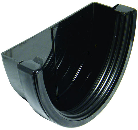 FloPlast Xtraflo 170mm Black PVC External Stop End