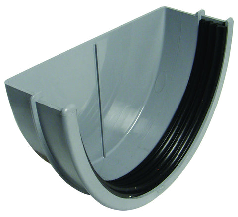 FloPlast Xtraflo 170mm Grey PVC External Stop End