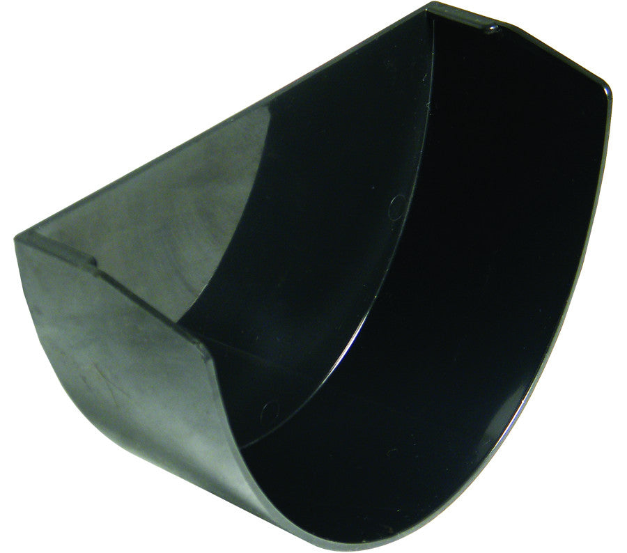 FloPlast Xtraflo 170mm Black PVC Internal Stop End