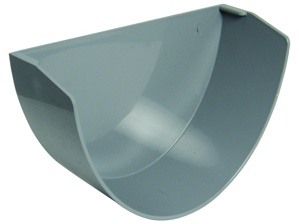 FloPlast Xtraflo 170mm Grey PVC Internal Stop End