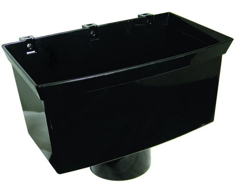 FloPlast Xtraflo 110mm Black PVC Hopper