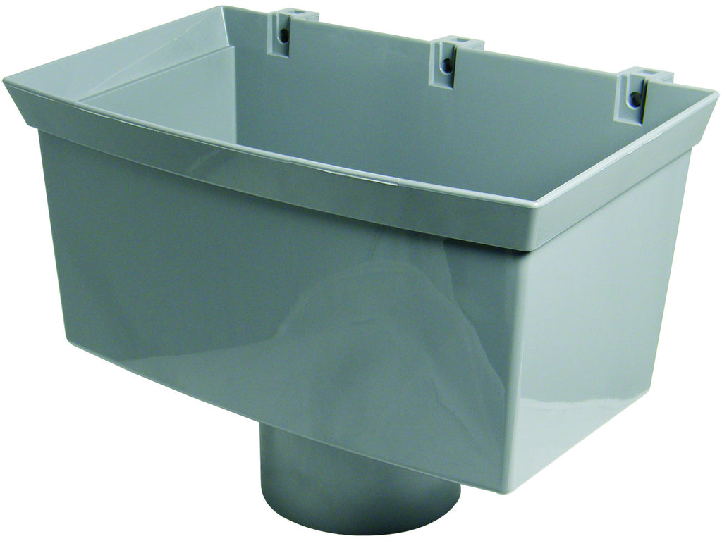 FloPlast Xtraflo 110mm Grey PVC Hopper