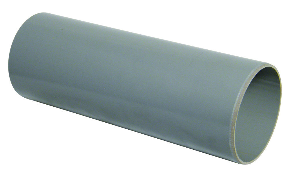 FloPlast Xtraflo 110mm Grey PVC Plain Ended Pipe, 3m long