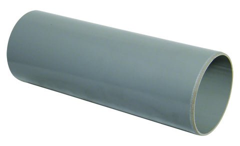 FloPlast Xtraflo 110mm Grey PVC Plain Ended Pipe, 4m long