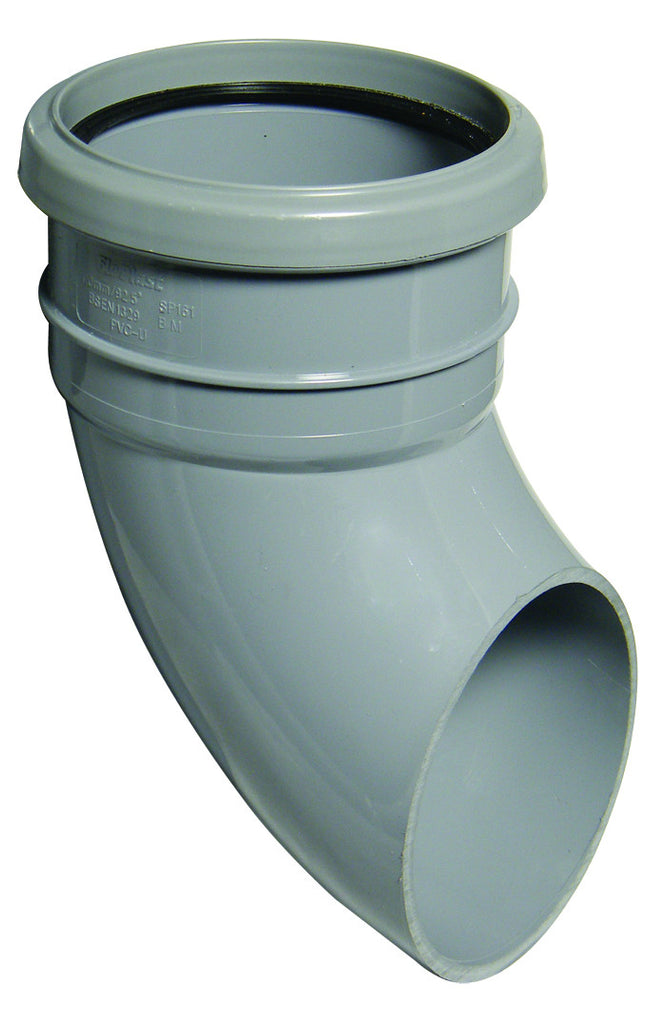 FloPlast Xtraflo 110mm Grey PVC Pipe Shoe