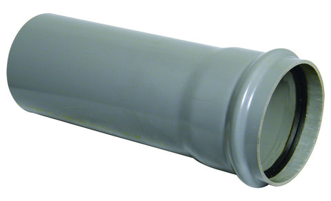 FloPlast Xtraflo 110mm Grey PVC Socketed Pipe, 4m long