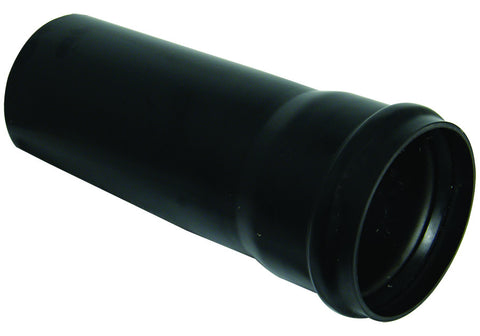 FloPlast Xtraflo 110mm Black PVC Socketed Pipe, 4m long