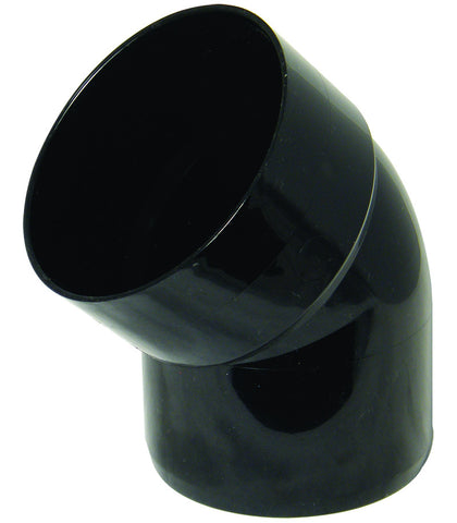 FloPlast Xtraflo 110mm Black PVC 135 Degree Bottom Offset Bend