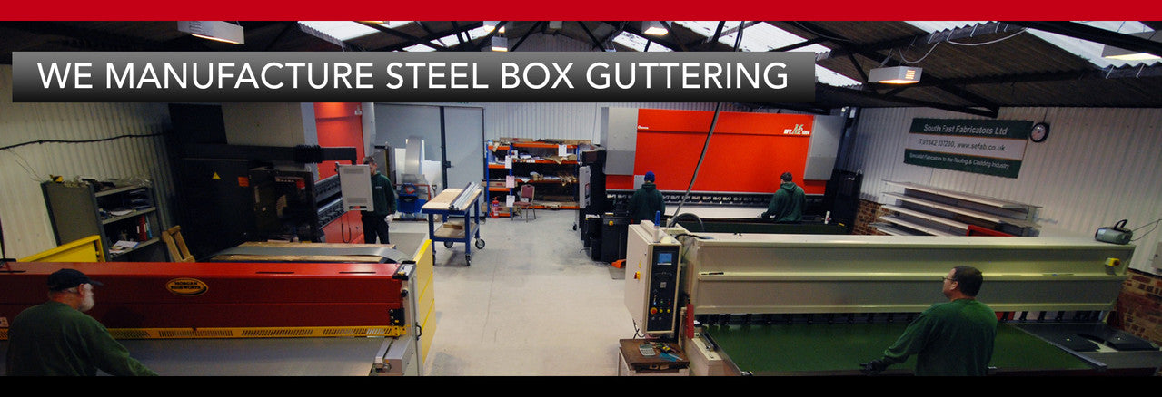 Fabricated Steel Box Guttering