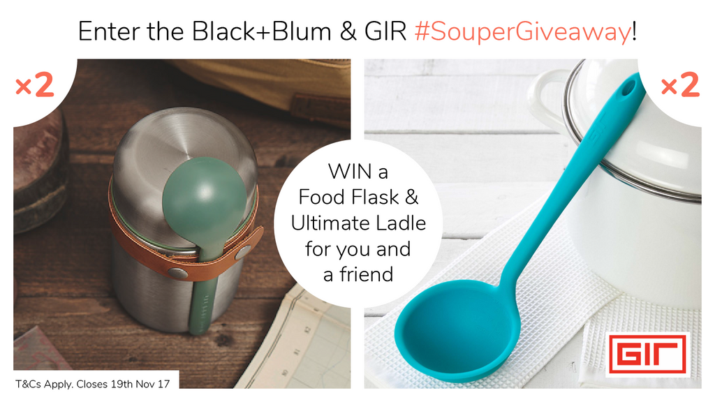 Black+Blum #soupergiveaway Win fllod flask and ladel for you and a friend