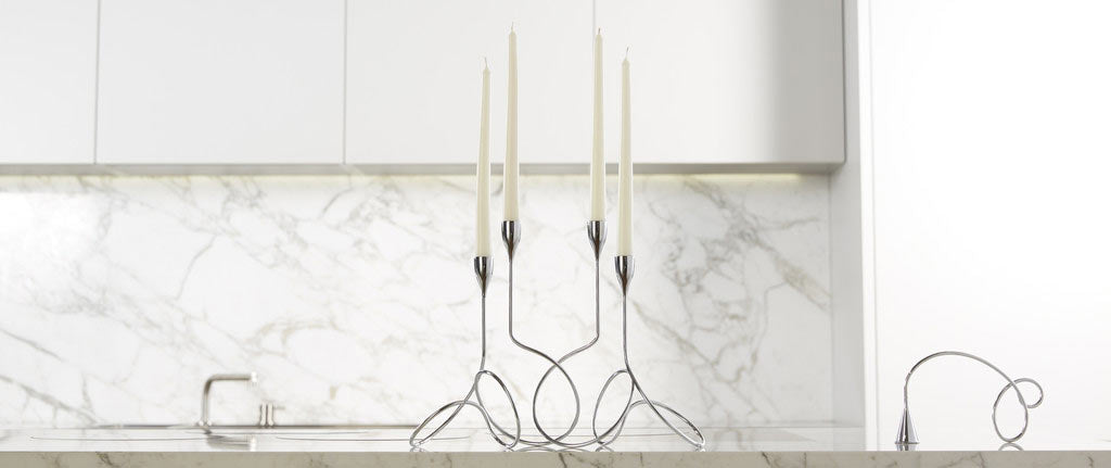 Black Blum Loop Maison Chrome Candelabra