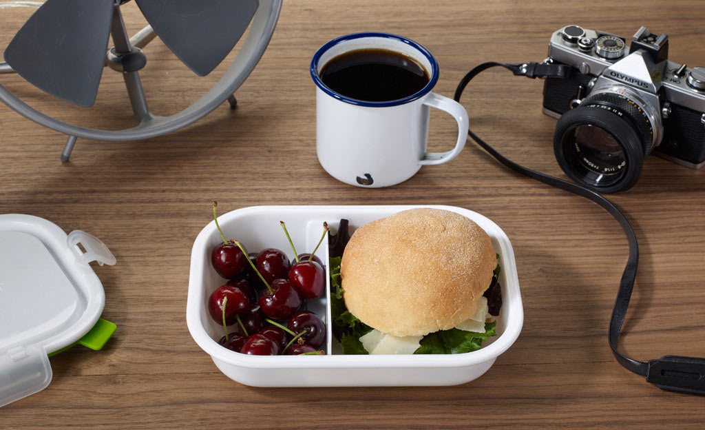 Black Blum Lunch Box Rectangle