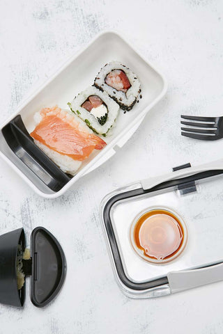 box appetit, bento, bento box, monochrome, black, white, lunch box