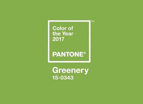 pantone, greenery, color of the year, 2017
