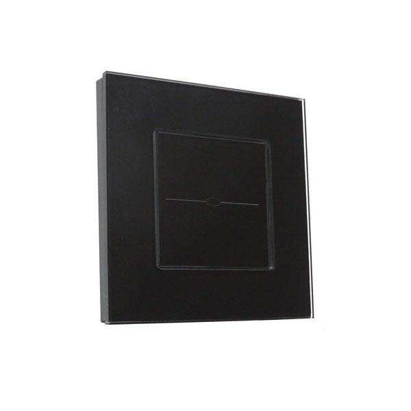 Black Glass Frame Touch Light Switch