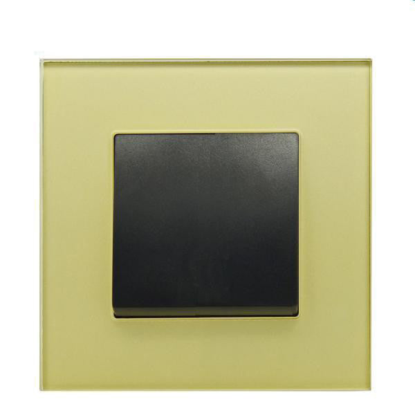 Gold Glass Light Switch