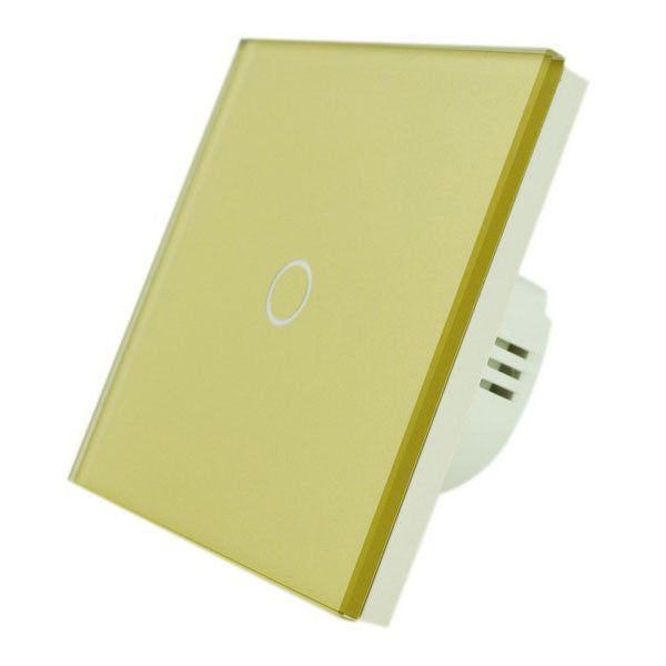 Gold Crystal Glass Panel Touch Light Switch