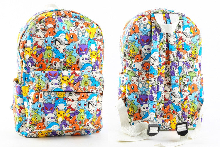 aed04f0e09 Pokemon Canvas Backpack Casual Teenager Cute
