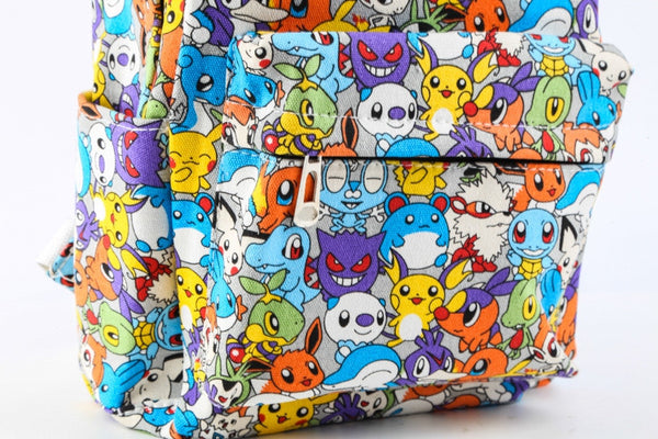 Pokemon Canvas Backpack Casual Teenager Cute