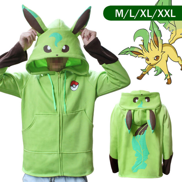 2017 - Pokemon Eevee Family Hoodie Zipper Coat/Jacket Cosplay Hoodies