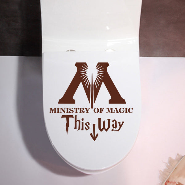 DIY Funny Harry Potter Parody Restroom Wall