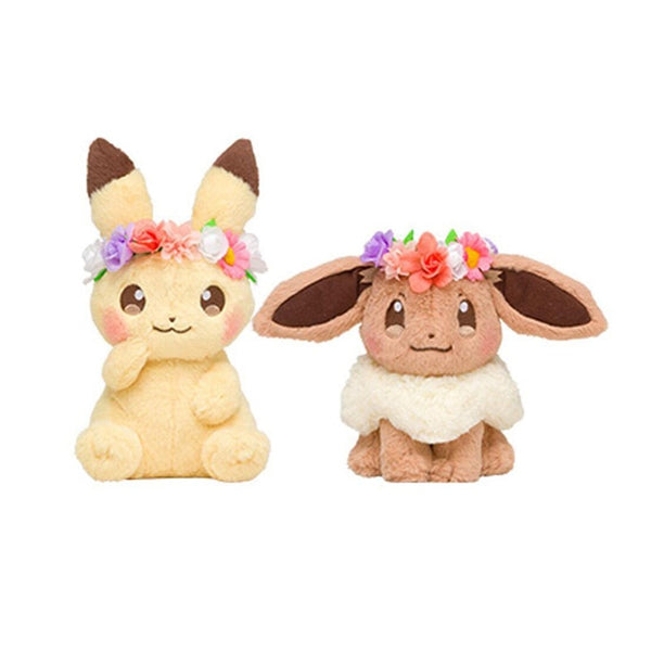 Cute Pikachu-Eevee plush Spring festival Easter wreath style - 2019