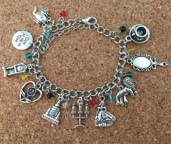Beauty and Beast Charm Bracelet