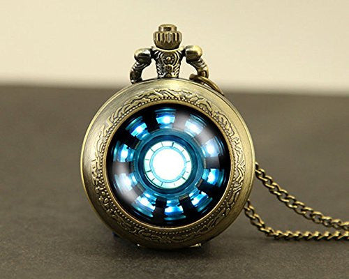 Tony Stark Arc Reactor Pocket Watch
