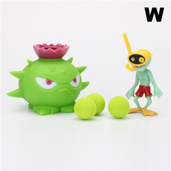Plants vs Zombies Peashooter PVC Action Figure Model Toy (High Quality)