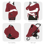 FEED® breastfeeding multi-use top garment (burgundy)