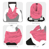 Breastfeeding Scarf multi-use garment (coral)