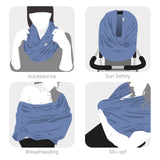 SCARF multi-use garment (pewter blue)