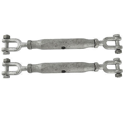Rigging Screw 22mm Galvanised Jaw to Jaw (2pcs) - Chain Care Lifting Services Ltd