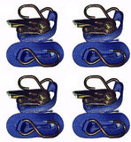 1000kg x 5 Metre S Hook Ratchet Straps (4pcs) - Chain Care Lifting Services Ltd  - 2