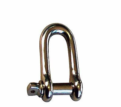 4mm Stainless Steel Commercial Dee Shackle Screw Pin Tested Boat - Chain Care Lifting Services Ltd