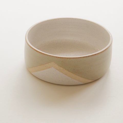 Geo glazed bowl