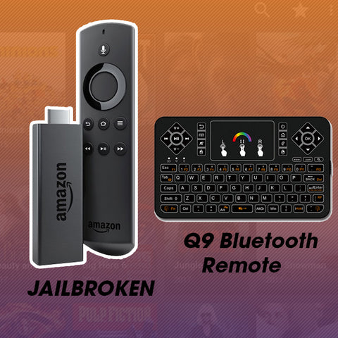Jailbroken Amazon Fire Stick With Q9 Wireless Keyboard - Fully Loaded With Kodi 17.6 - DIGSMARKET