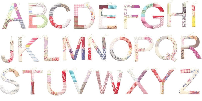 Toshi Fabric Letters - Girls Floral