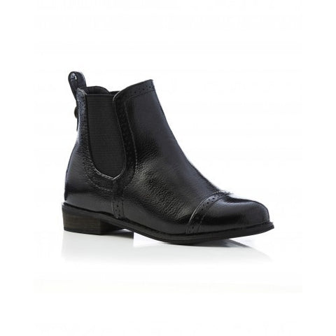 Chelsea Boot Crackle Black