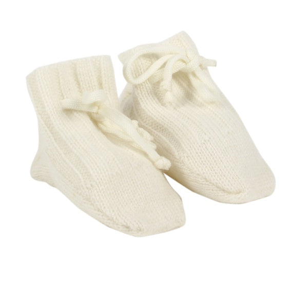 Bebe Cream Cashmere Knit Booties